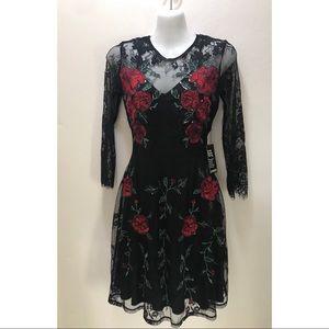 EXPRESS Rose Knit Dress NWT